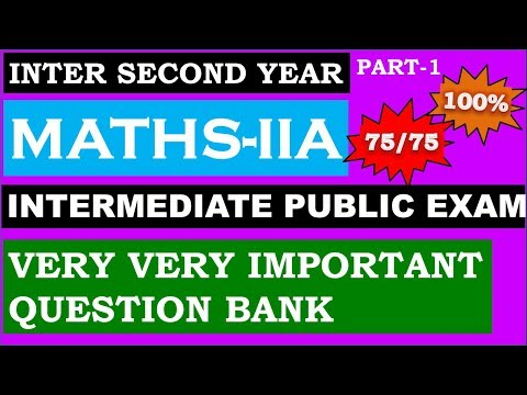 Intermediate public examination|| IMP Questions topic wise