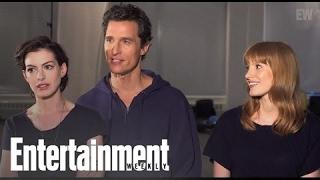 Interstellar: Matthew McConaughey, Anne Hathaway, & Jessica Chastain Pop Quiz
