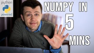 Learn NUMPY in 5 minutes - BEST Python Library!