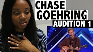 CHASE GOEHRING - AUDITION #1 - AMERICA'S GOT TALENT - REACTION