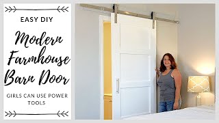 Easy DIY Modern Farmhouse Barn Door