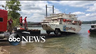 Coast Guard raises ill-fated duck tour boat from the bottom of the lake