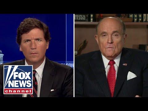 Rudy Giuliani Tells Tucker Carlson That FBI Didn't Want Hunter Biden's Hard Drives During Raid