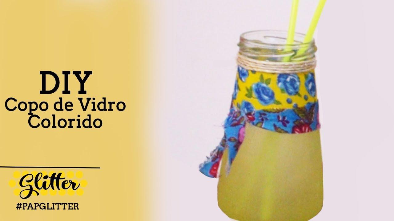 DIY | Copo de Vidro Artesanal