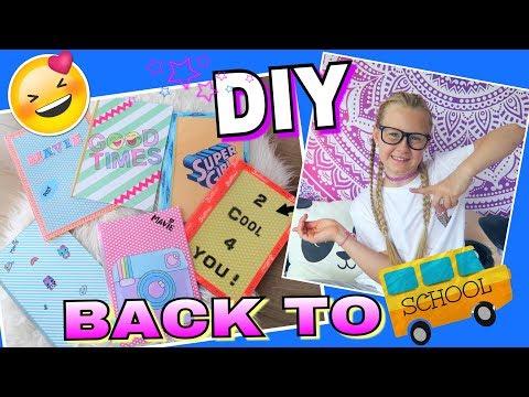 DIY BACK TO SCHOOL Schulhefte Schnellhefter coole Mädchen
