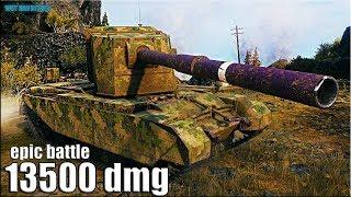 13500 dmg на ИМБЕ 🌟 FV4005 Stage II World of Tanks gameplay