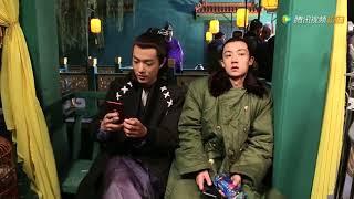 《哦!我的皇帝陛下2》独家花絮:肖战谷嘉诚戏外鬼脸自拍
