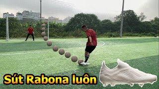 Thử Thách Bóng Đá sút Penalty Rabona như Ronaldo với giày của Đoàn Văn Hậu U23 Việt Nam