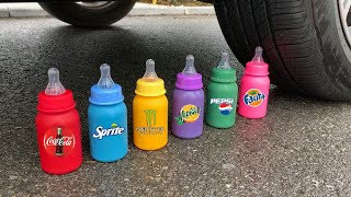 Experiment Car vs Mentos vs Coca Cola, Sprite, Monster | Crushing Crunchy & Soft Things by Car Test