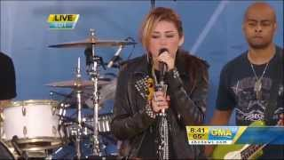 Miley Cyrus and Bret Michaels - Every Rose Has It's Thorn - Good Morning America