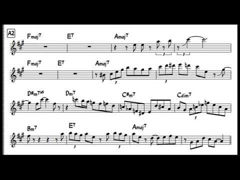 Charlie Parker - Night and Day solo transcription