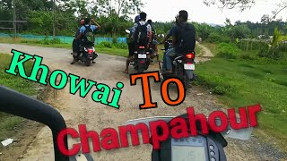 preview picture of video 'Khowai To Champahour. Tripura, India'
