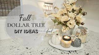 FALL DOLLAR TREE DIY | FARMHOUSE DECOR | EASY FALL CRAFTS