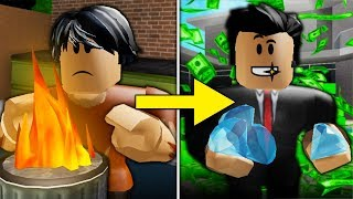 POOR TO RICH PART 3: THE RISE ( A Sad Bloxburg Movie)