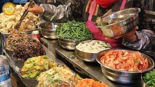 Gwangjang Market, Seoul │ Bibimbap │ Mixed Rice with Vegetables │ Korean Street Food