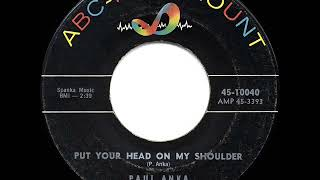1959 HITS ARCHIVE: Put Your Head On My Shoulder - Paul Anka (a #2 record)