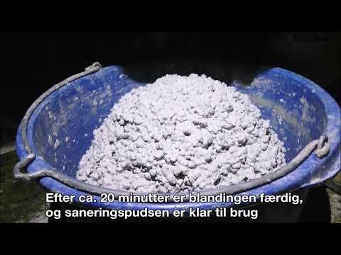 Hekla Saneringspuds - Miljøvenlig puds af kalk og pimpsten til fugtige vægge og kældervægge