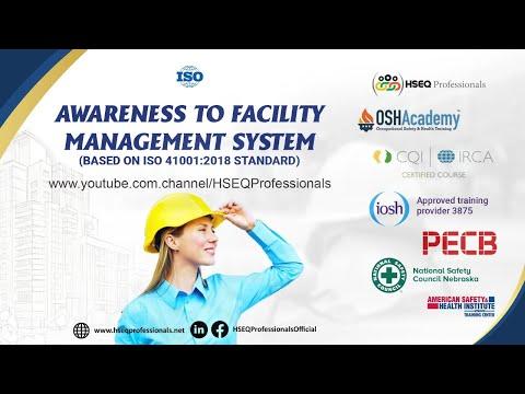 Facility Management System Training based on ISO 41001:2018 ...