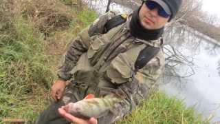 Рыбалка в ноябре на красивой мече