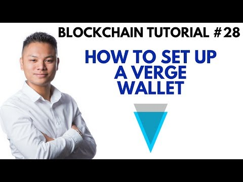 Blockchain Tutorial #28 - How To Setup A Verge Wallet