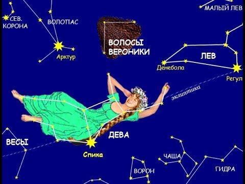 Созвездие «Дева» и «Волосы Вероники»