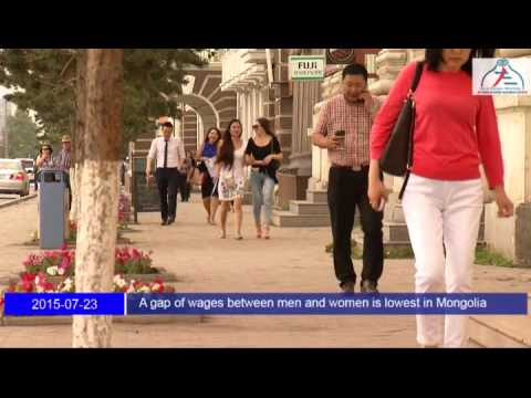 A gap of wages between men and women is lowest in Mongolia