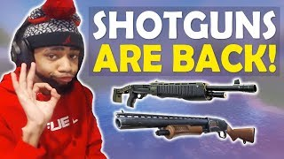 SHOTGUNS ARE BACK | PURGING IN PARADISE | BUFFED HIGH KILL FUNNY GAME - (Fortnite Battle Royale