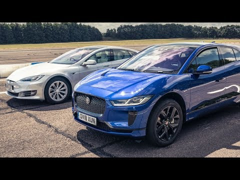 Tesla Model S 75d vs Jaguar I-Pace | Drag Races | Top Gear