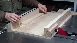 Adjustable Table Saw Sled