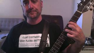 Danzig - Left Hand Black Guitar Lesson Part 2
