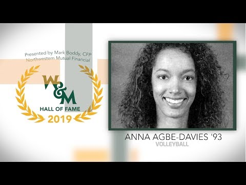 2019 W&M Athletics Hall of Fame - Anna Agbe-Davies '93 Volleyball