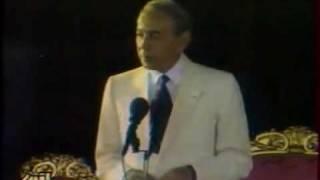 الملك الحسن الثاني رحمه الله وخطاب عيد الشباب بسلا سنة 1992
