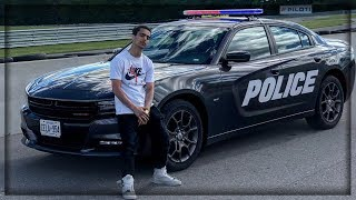 i drove a police car for my first time in my life !!