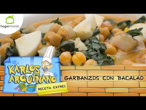 Receta de Garbanzos con bacalao por Karlos Arguiñano