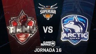 SUPERLIGA ORANGE - ASUS ROG ARMY VS ARCTIC GAMING - Jornada 16 - #SuperligaOrangeCR16