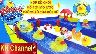 ĐỒ CHƠI CÔNG VIÊN NƯỚC KHỔNG LỒ CỦA BÚP BÊ CHIBI 1 | WATER PLAY POOL TOY FOR KID