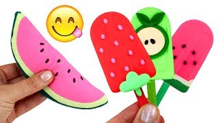 Play Doh Ice Cream Learn Fruit Names with Toy Fruits Learn Colors Creative Play for Kids
