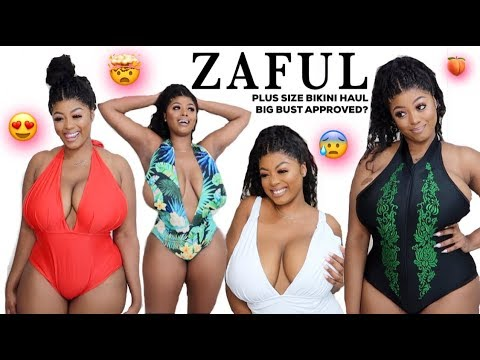 ZAFUL PLUS SIZE BIKINI TRY ON HAUL | IS IT SUITABLE FOR BIG BUST?