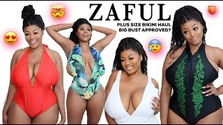 ZAFUL PLUS SIZE BIKINI TRY ON HAUL   IS IT SUITABLE FOR BIG BUST?