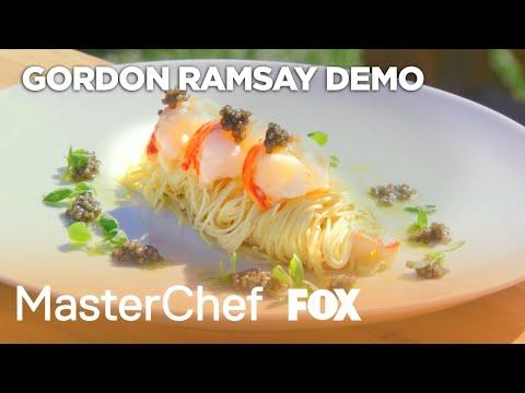 Gordon Ramsay Demonstrates How To Prepare A Lobster Dish   Season 8 Ep. 17   MASTERCHEF