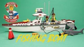 Конструктор lego 60147 city рыболовный катер.