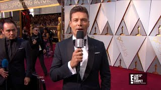5 Leading Actress Nominees Skip Ryan Seacrest on Red Carpet - Video Youtube