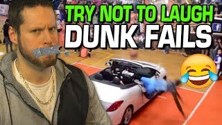 Try Not to Laugh: Basketball Dunk Fails