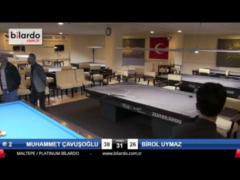 MUHAMMET ÇAVUŞOĞLU & BİROL UYMAZ Bilardo Maçı - PLATINUM BİLARDO - 2018 CUMHURİYET TURNUVASI-Final