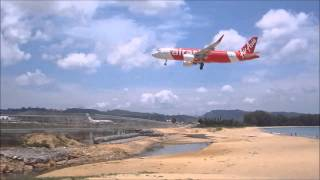 Phuket Airport Plane Spotting. Takeoffs and Landings Runway 09