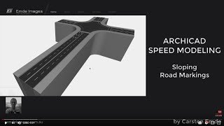 How to model sloping Road Markings