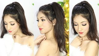 New Ponytail Hairstyle With Trick For Party Or Wedding   Long Ponytail