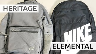 Nike Elemental vs. Heritage Backpack | Which Should You Buy?