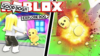 Making Adopt Me Pets Explode With Admin Commands Roblox