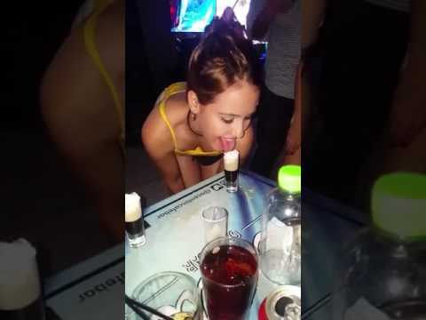 Hot girls are drinking shots like a blowjob - very sexy
